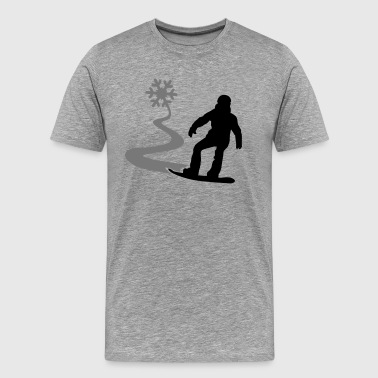 Snowboarder with snowflake - Men's Premium T-Shirt