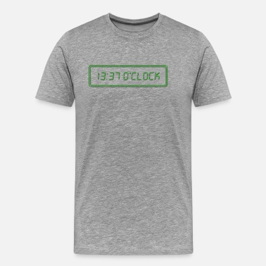 1337 1337 O Clock Green - Men's Premium T-Shirt
