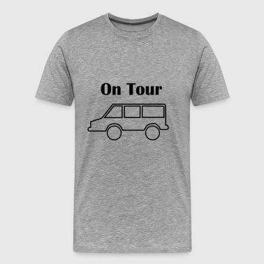 On tour with car - Men's Premium T-Shirt