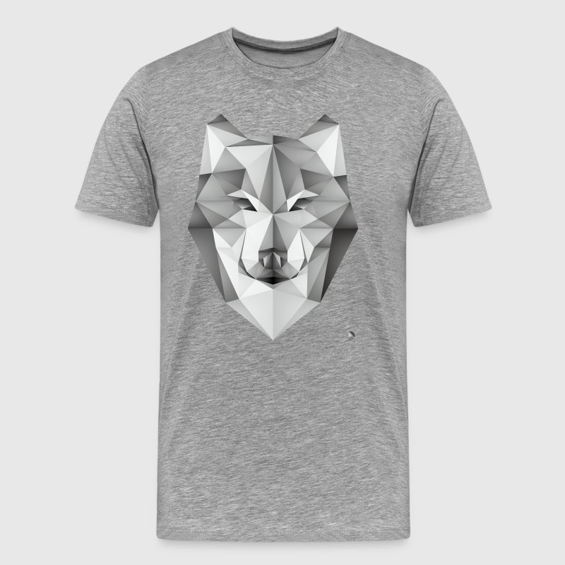 AD Geometric Wolf - Men's Premium T-Shirt