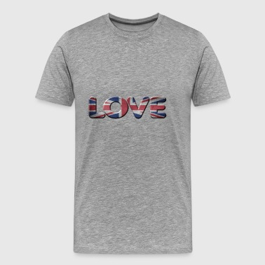 I LOVE ENGLAND GREAT BRITIAN - Men's Premium T-Shirt