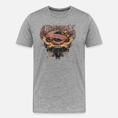 Super Héros Superman S-Shield Man of Steel Tee shirt manches l - T-shirt Premium Homme