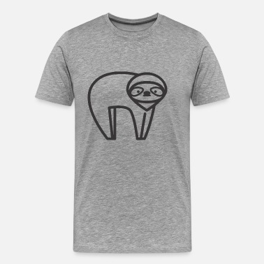 Trend LAZY ANIMAL - Mannen Premium T-shirt