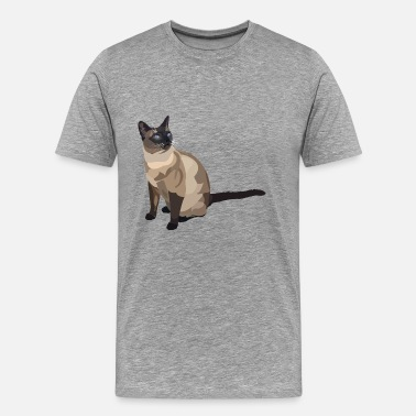 Siamois chat siamois - T-shirt Premium Homme
