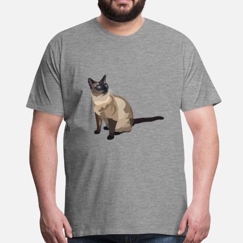 Kot Syjamski Premium Koszulka Męska Spreadshirt
