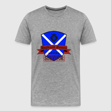 Highland Games Survivor Highlands écossais - T-shirt Premium Homme