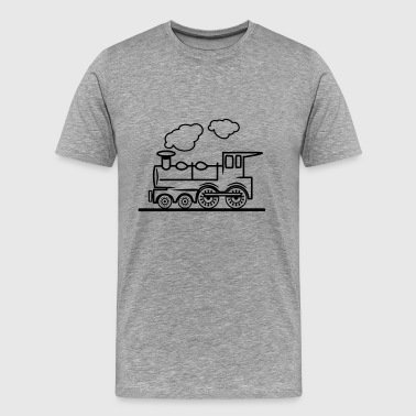 Locomotive à vapeur train chemin de fer - T-shirt Premium Homme