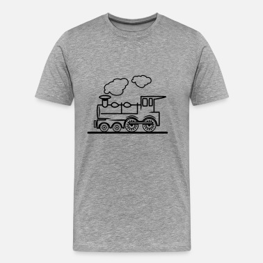 Steam Train Train railroad steam locomotive - Men's Premium T-Shirt