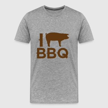 Pig / farm: I love BBQ - Men's Premium T-Shirt