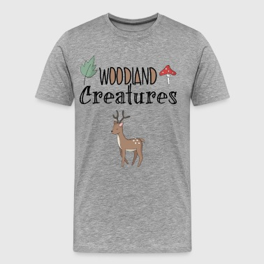 Deer forest forest dwellers nature home wood - Men's Premium T-Shirt