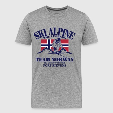 Alpine Skiing ski - alpine - apres - Norwegen - Men's Premium T-Shirt