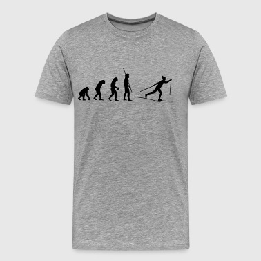 Evolution Ski Cross - Herre premium T-shirt