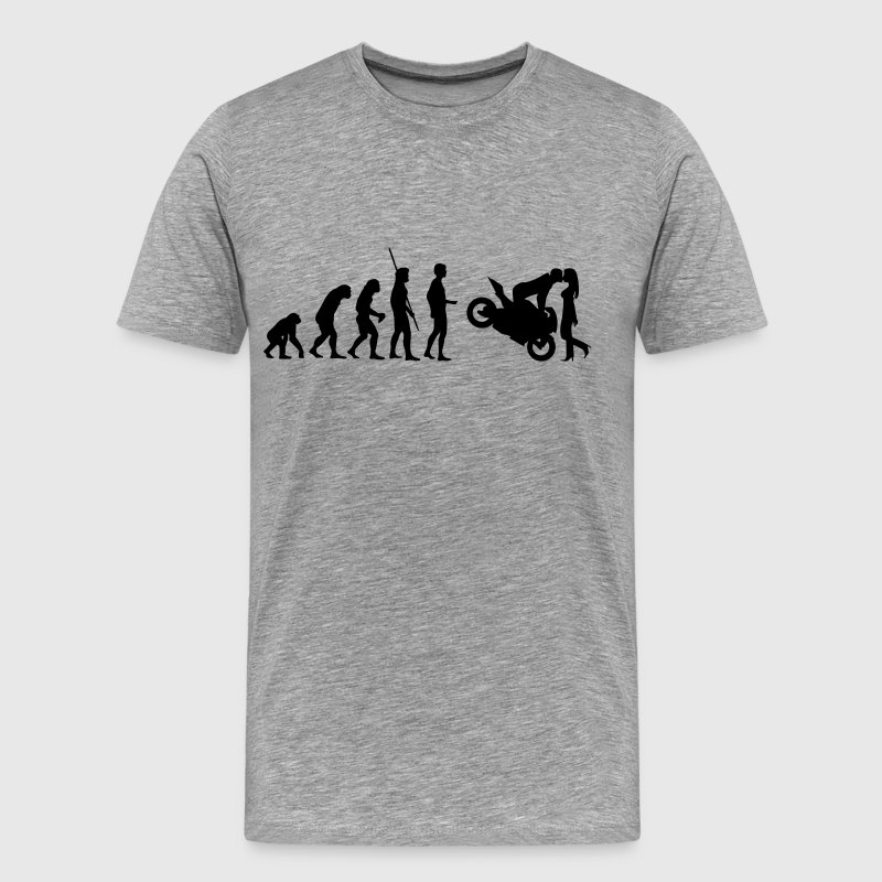 Evolution Motorcycle kiss - Men's Premium T-Shirt