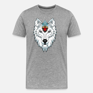 Newschool female wolf newschool - T-shirt Premium Homme