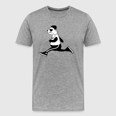 sporty panda - Men's Premium T-Shirt