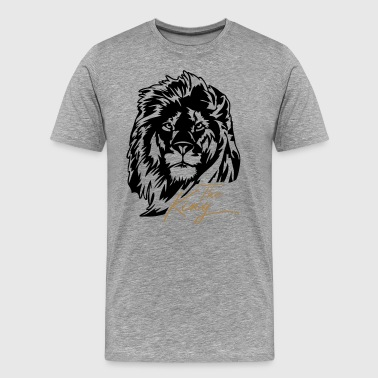 The Lion - The King - Mannen Premium T-shirt