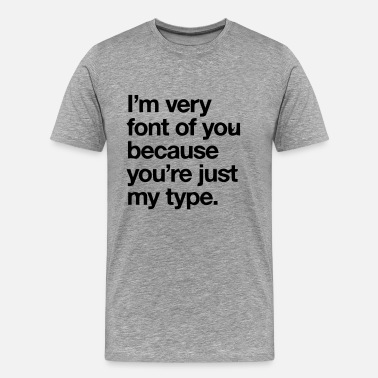 Graphic YOU'RE JOKE JUST MY TYPO - GRAPHIC DESIGN - Mannen Premium T-shirt