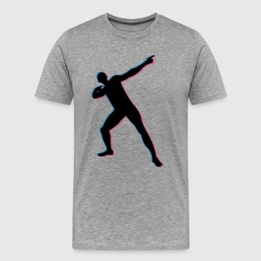 Track Usian Bolt in 3D - Men's Premium T-Shirt