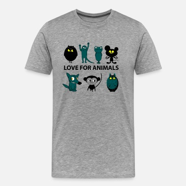 Love Animals love for animals - Camiseta premium hombre