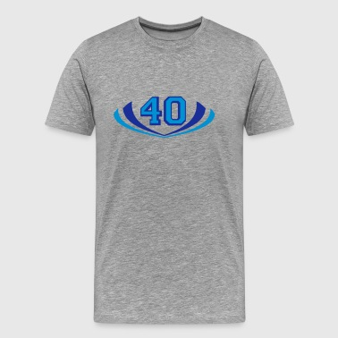 40 forty logo - Men's Premium T-Shirt