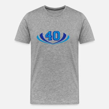 Forty 40s 40 forty logo - Men's Premium T-Shirt