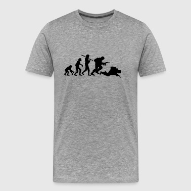 Stupid Monkey Evolution monkey war dead was stupid Warrior - Men's Premium T-Shirt