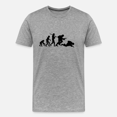 Stupid Wars Evolution monkey war dead was stupid Warrior - Men's Premium T-Shirt