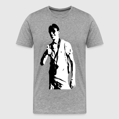 nicer random dude as vector thumbs up - Men's Premium T-Shirt