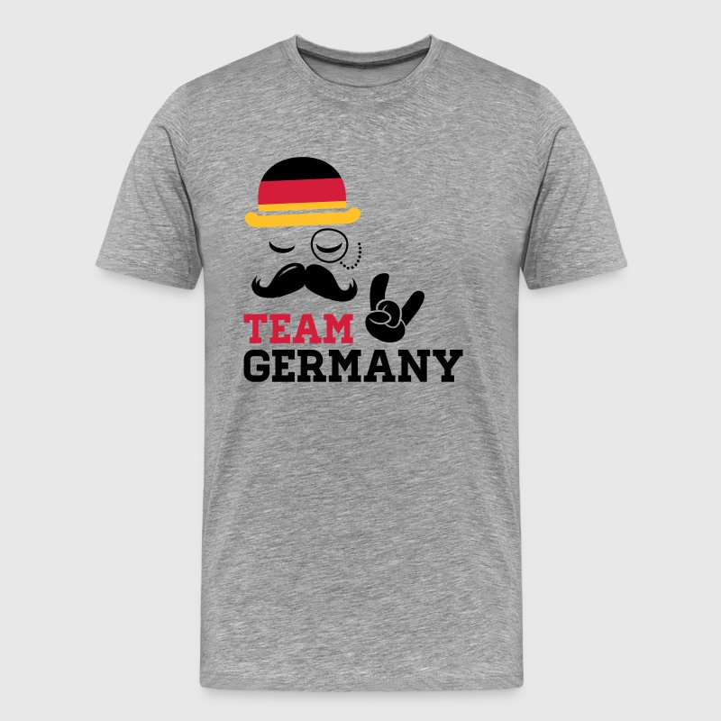 Germany team fashionable championship winner gold medal olympics football flag moustache - Men's Premium T-Shirt