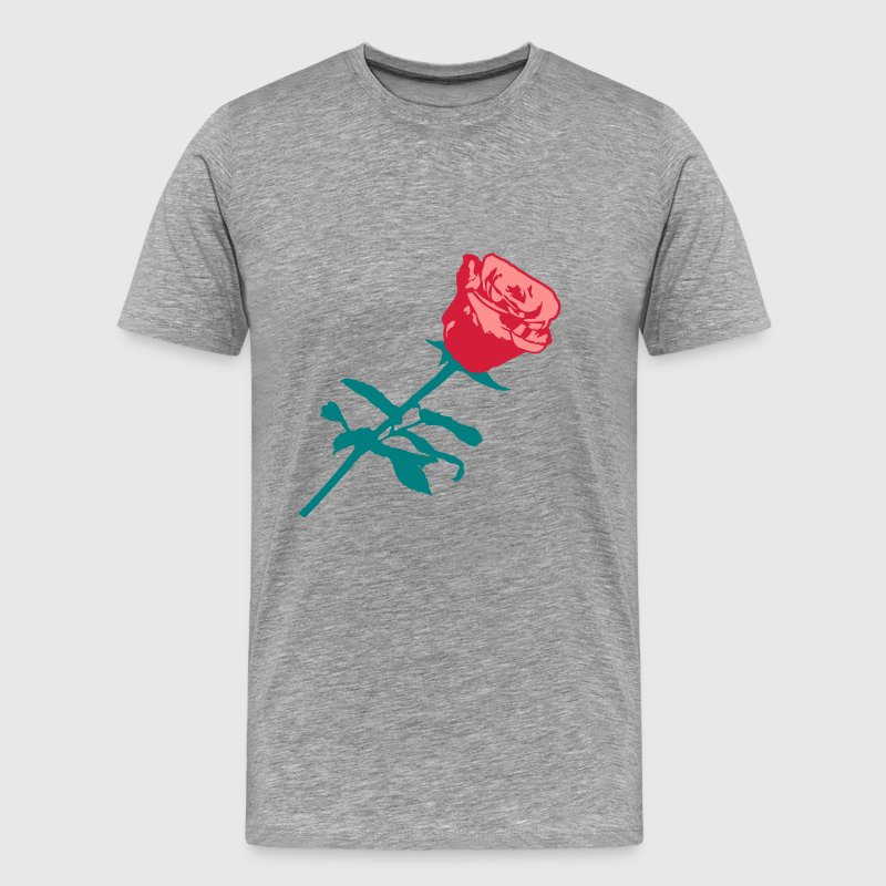 Beautiful red rose design - Men's Premium T-Shirt