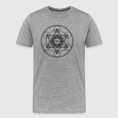Metatrons Cube Sacred Geometry Flower Life Science - Men's Premium T-Shirt