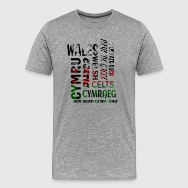 Wales, Welsh and proud - Men's Premium T-Shirt