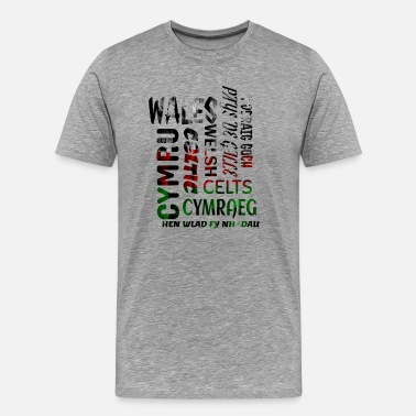 Wales Rugby Wales, Welsh and proud - Men's Premium T-Shirt
