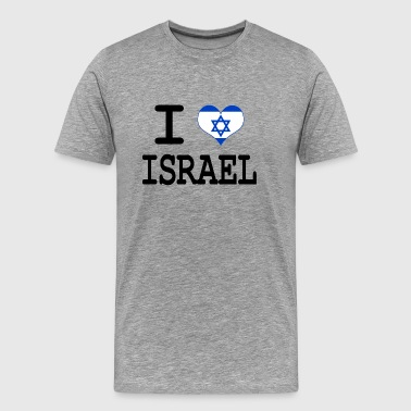 i love Israel - Premium T-skjorte for menn