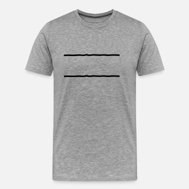 Vertical Line 2 lines - Men's Premium T-Shirt