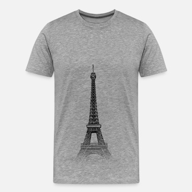 Monument Around The World: Tour Eiffel - Paris - T-shirt Premium Homme