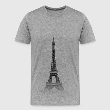 Around The World: Eiffel Tower - Pariisi - Miesten premium t-paita