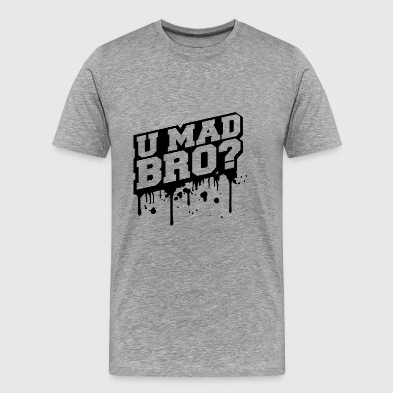 U Mad Bro Graffiti Logo - Men's Premium T-Shirt