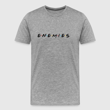 Spoof Enemies or Friends? Parody Shirt (Dark) - Men's Premium T-Shirt