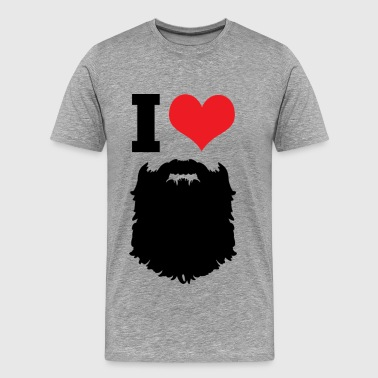 I Love Beards - Männer Premium T-Shirt