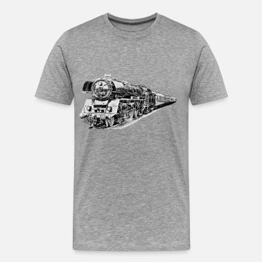 Railroad steam locomotive - Men's Premium T-Shirt