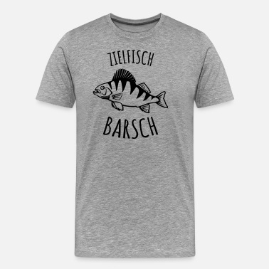 Targeted Last throw target fish perch fishing - Men's Premium T-Shirt