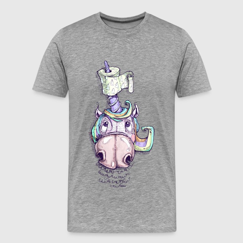 Unicorn with toilet paper - Men's Premium T-Shirt