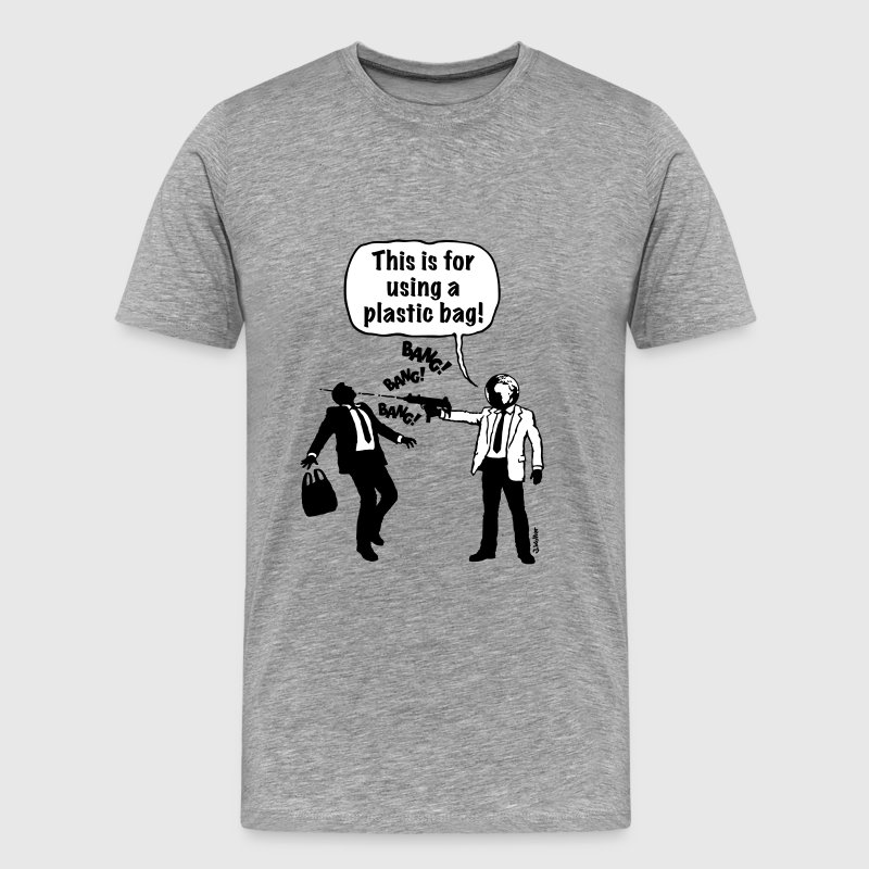 Cartoon: Anti-Plastic Waste Activist (2C) - Men's Premium T-Shirt