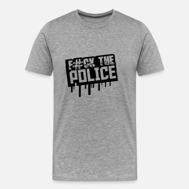 Fuck The Law Fuck The Police Graffiti Stempel - Men's Premium T-Shirt