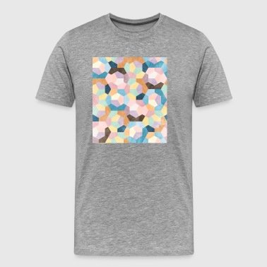 Honeycomb Pastels #001 - Men's Premium T-Shirt