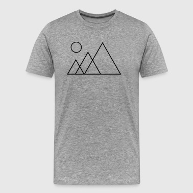 Mountain Outline - Men's Premium T-Shirt