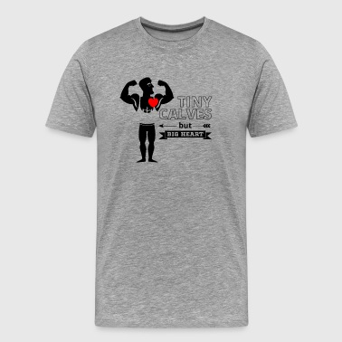 Tiny Calve's Big Heart - Powerlifting Fun - Black - Men's Premium T-Shirt