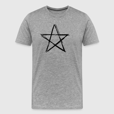 Pentagram black - Men's Premium T-Shirt