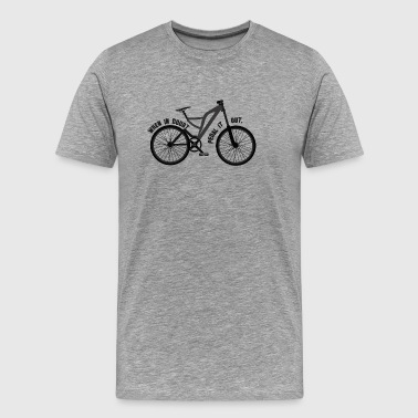 Pedaling mountain bike gift - Men's Premium T-Shirt
